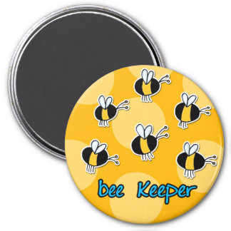 bee keeper 3 inch round magnet