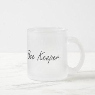 Bee Keeper Artistic Job Design 10 Oz Frosted Glass Coffee Mug