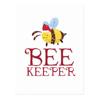 Bee Keeper Christmas Edition Postcard