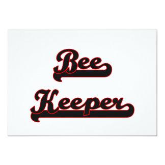 """Bee Keeper Classic Job Design 5"""" X 7"""" Invitation Card"""