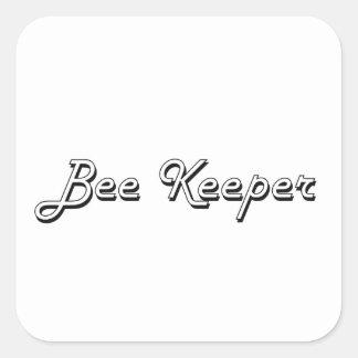 Bee Keeper Classic Job Design Square Sticker