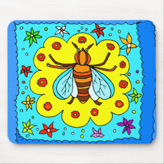 BEE KEEPER DESIGN MOUSE PAD