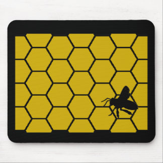 Bee Keeper Gifts Unique Honeycomb Design Mouse Pad