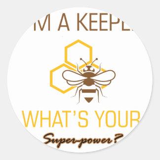 Bee Keeper tshirts Classic Round Sticker