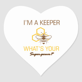 Bee Keeper tshirts Heart Sticker