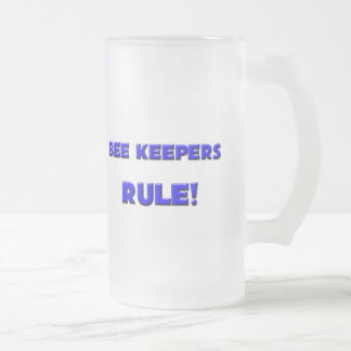 Bee Keepers Rule! 16 Oz Frosted Glass Beer Mug