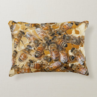 Bee keeping at Arlo's Honey Farm Accent Pillow