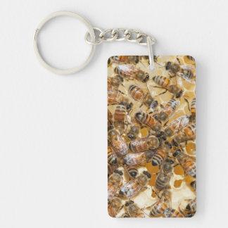 Bee keeping at Arlo's Honey Farm Keychain