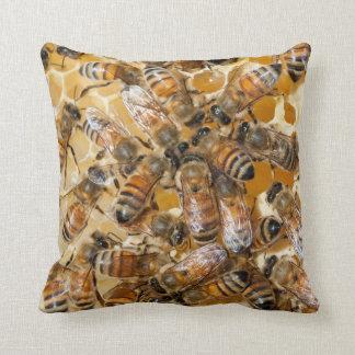 Bee keeping at Arlo's Honey Farm Throw Pillow