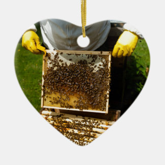 Bee Keeping Ceramic Ornament