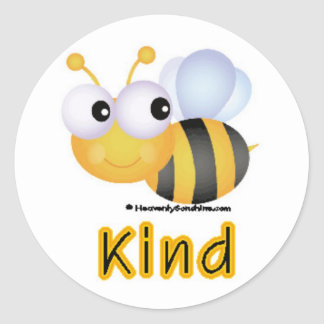 Bee Kind Round Stickers