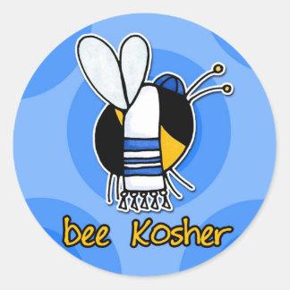 bee kosher classic round sticker