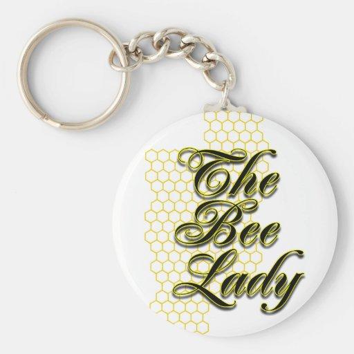 bee lady basic round button keychain
