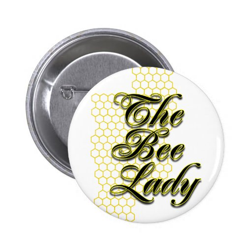 bee lady button
