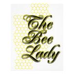 bee lady letterhead template