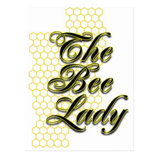 bee lady postcard