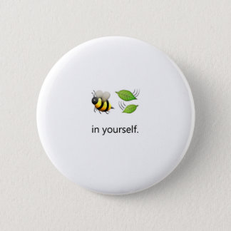 Bee Leaf in Yourself Pin