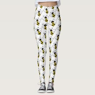 Womens Buzzing Bee Leggings Zazzle