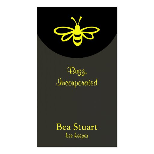 Bee [lemon] business card