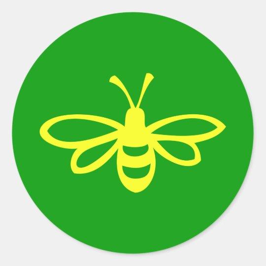 Bee [lemon] classic round sticker