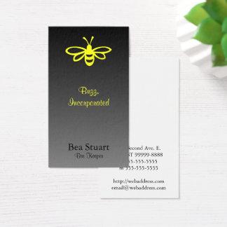 Bee [lemon] on Gradient [black] Business Card