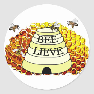 Bee-Lieve Honey Bees Sticker