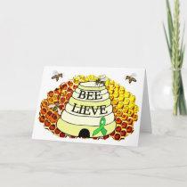 Bee-Lieve Honeycomb Lyme Disease Encouragement Card