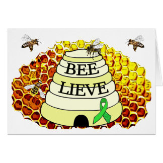 Bee-Lieve Honeycomb Lyme Disease Encouragement Card