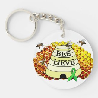 Bee-Lieve Lyme Disease Awareness Key Chain