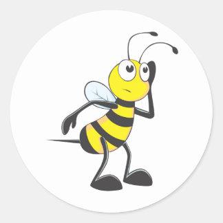 Bee Listening Classic Round Sticker