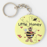 Bee Little Honey t-shirts and Gifts Keychain