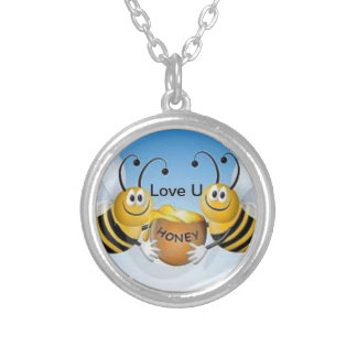 Bee Loved Silver Plated Necklace