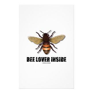Bee Lover Inside (Love Letter Font) Stationery