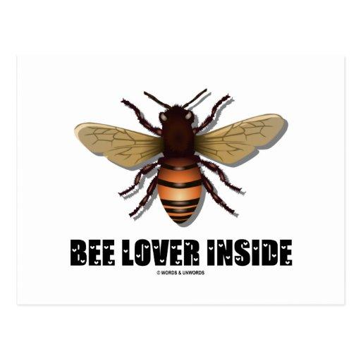 Bee Lover Inside Postcard