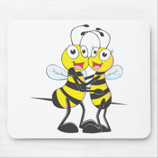 Bee Lovers Mouse Pad