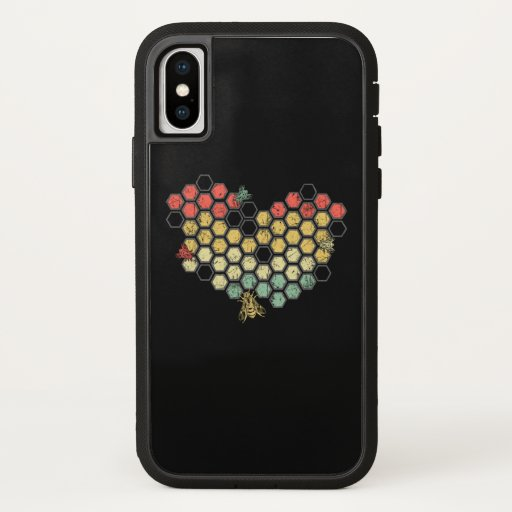 Bee Lovers | Retro Vintage Honeycomb Costume iPhone X Case