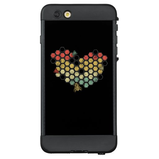 Bee Lovers | Retro Vintage Honeycomb Costume LifeProof NÜÜD iPhone 6 Plus Case