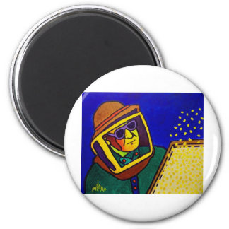 Bee Man 2 by Piliero 2 Inch Round Magnet