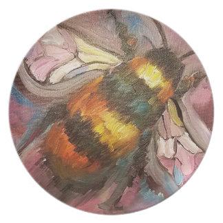 Bee Melamine Plate