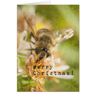 Bee Merry 2, Honey Bee Christmas Card