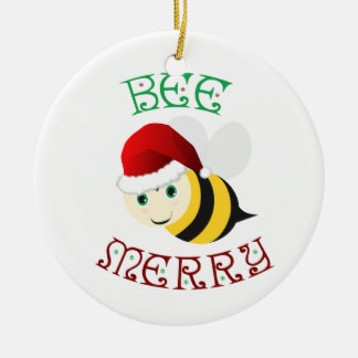 Bee Merry Ceramic Ornament