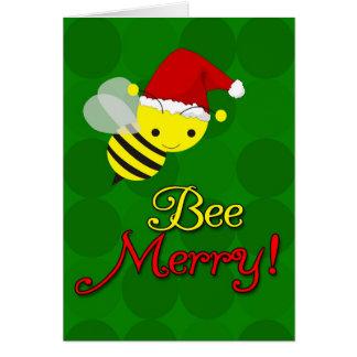 Bee Merry Cute Bumblebee Christmas Cards