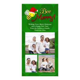 Bee Merry, Cute Bumblebee Holiday Card