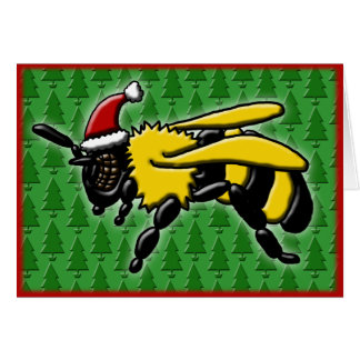 Bee Merry, greeting card