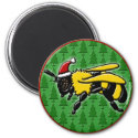Bee Merry, round magnet magnet