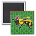 Bee Merry, square magnet magnet
