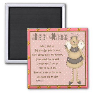 Bee Mine 2 Inch Square Magnet