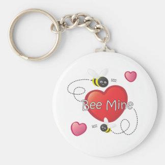 Bee Mine - Bees and Hearts Keychain