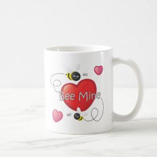 Bee Mine - Bees and Hearts Classic White Coffee Mug