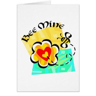 Bee Mine Bumblebee Heart Flower Cards